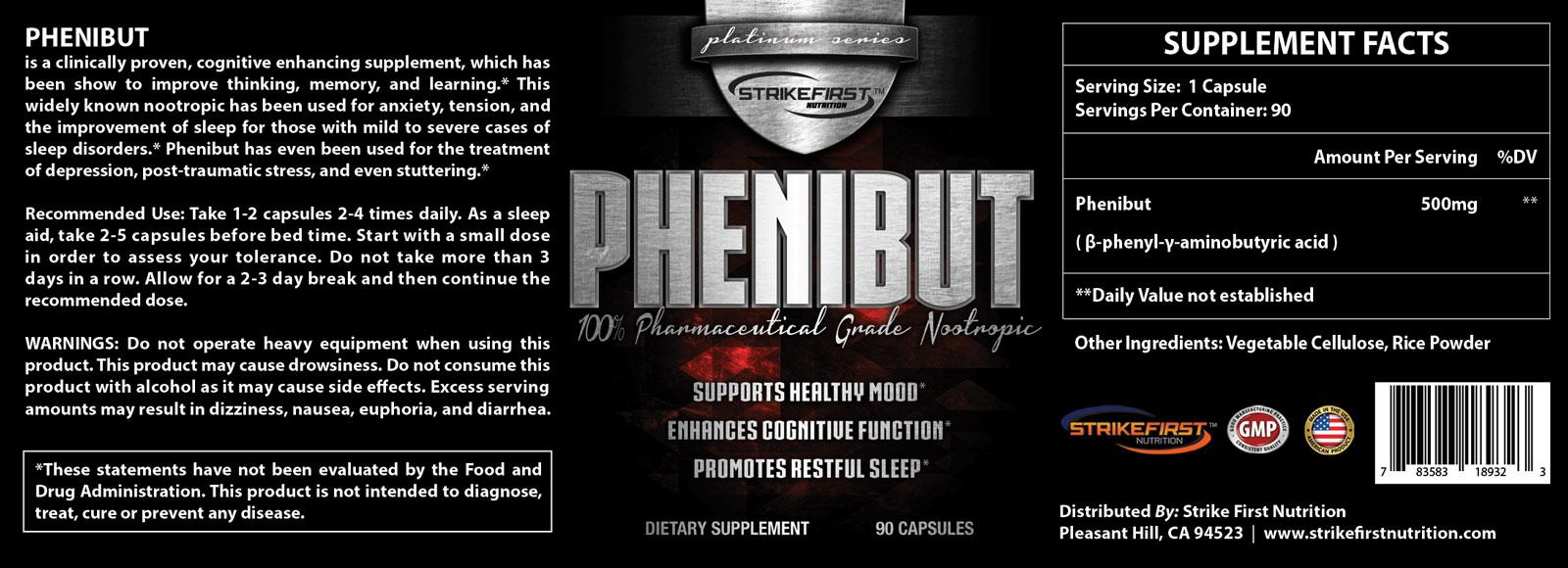 PHENIBUT: SFN™ - PHENIBUT - Rest & Reovery Nootropic